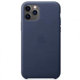 Apple Leder Hülle iPhone 11 Pro Mitternachts Blau