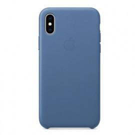 Apple Leder Hülle iPhone X / XS hellblau