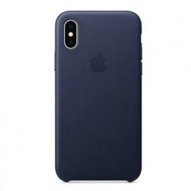 Apple Leder Case iPhone X / XS midnight blue