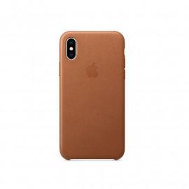 Apple Leder Case iPhone X / XS Sattelbraun