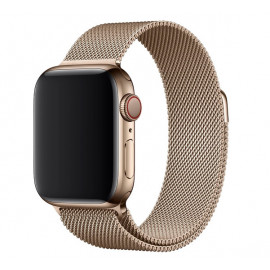Apple Milanaise Loop Armband Stahl Apple Watch 42mm / 44mm gold