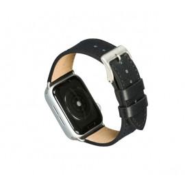 Dbramante1928 Copenhagen Apple Watch Strap 44mm - schwarz / silber