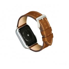 Dbramante1928 Copenhagen Apple Watch Strap 44mm - hellbraun / silber