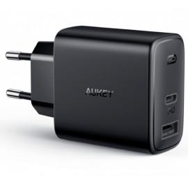 Aukey 2 Port Netzteil Ladegerät 30W (USB A + USB C)