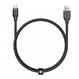 Aukey Braided Cable USB-A zu USB-C 1.2m schwarz