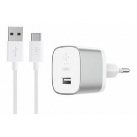 Belkin BOOST UP Home Ladegerät mit USB-C Ladekabel (Quick Charge 3.0) Silber