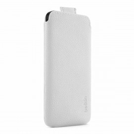 Belkin Leder Case iPhone 5(S)/SE weiß