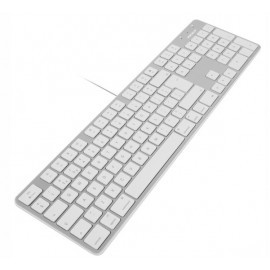 Macally Slim USB Tastatur UK QWERTY weiß / aluminium
