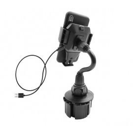 Macally MCup XL Autohalterung für Getränkehalter + 10W Qi Ladegerät