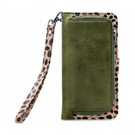 Mobilize 2in1 Gelly Wallet Zipper Case iPhone XR Olive / Leopard