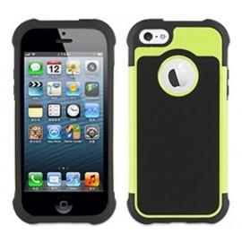 Muvit Anti-Shock Case iPhone 5(S)/SE schwarz/grün