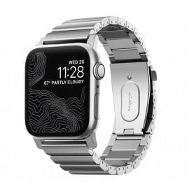 Nomad Titanium Armband Apple watch 42 / 44 mm silber