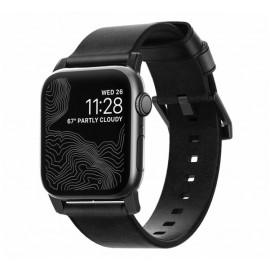 Nomad Modern Slim Leder Armband Apple Watch 42 / 44 mm Schwarz