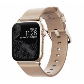 Nomad Modern Slim Leder Armband Apple Watch 38 / 40 mm Gold
