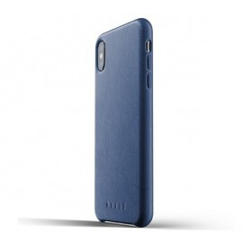 Mujjo Leather Case iPhone XS Max blau