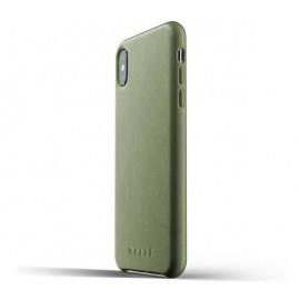 Mujjo Leder Case iPhone XS Max grün