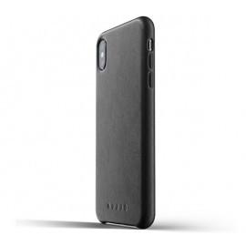 Mujjo Leather Case iPhone XS Max schwarz