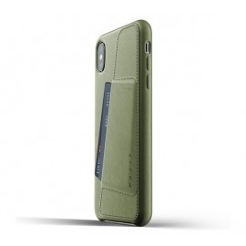 Mujjo Leder Wallet Case iPhone XS Max grün