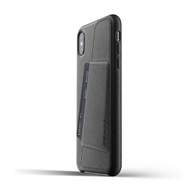 Mujjo Leder Case iPhone XS Max schwarz