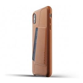 Mujjo Leder Wallet Case iPhone XS Max braun