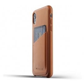 Mujjo Leather Wallet Case iPhone XR braun