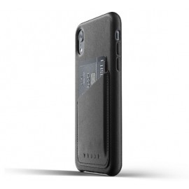 Mujjo Leather Wallet Case iPhone XR schwarz
