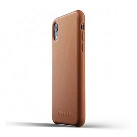 Mujjo Leather Case iPhone XR braun