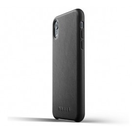 Mujjo Leather Case iPhone XR schwarz