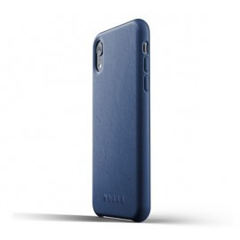 Mujjo Leather Case iPhone XR blau