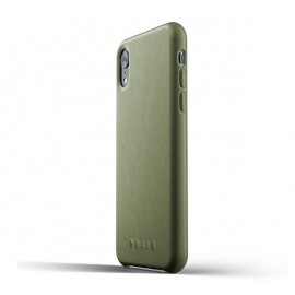 Mujjo Leather Case iPhone XR grün