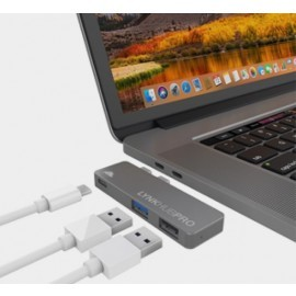 intelliARMOR LynkHUB PRO (3-in-1 USB-C MacBook Hub) space gray