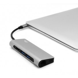 intelliARMOR lynkHub Max (8-in-1 USB-C MacBook Hub) space gray