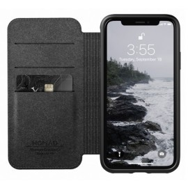 Nomad Rugged Folio Lederhülle iPhone XS Max braun