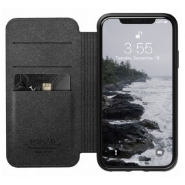 Nomad Rugged Folio Lederhülle iPhone XR braun
