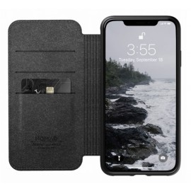 Nomad Rugged Folio Lederhülle iPhone XS Max schwarz