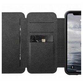 Nomad Rugged Tri-Folio Lederhülle iPhone XR braun
