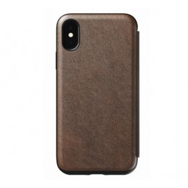 Nomad Rugged Tri-Folio Lederhülle iPhone XS Max braun