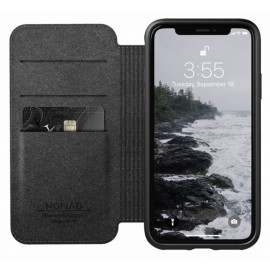 Nomad Rugged Folio Lederhülle iPhone X / XS schwarz