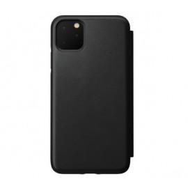 Nomad Rugged Folio Lederhülle iPhone 11 Pro Max schwarz