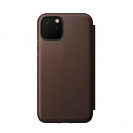 Nomad Rugged Folio Lederhülle iPhone 11 Pro Max braun