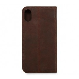 Knomo iPhone X / XS Premium Leather Folio braun