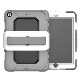 Griffin Survivor iPad 2017 9.7 mit Handschlaufe Weiß / Grau