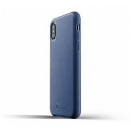 Mujjo Lederhülle iPhone X blau