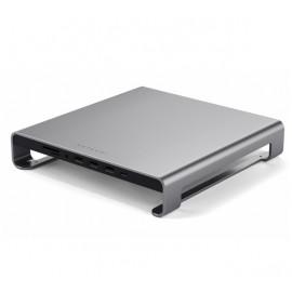 Satechi Aluminium Monitor Ständer Hub iMac grau