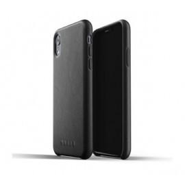 Mujjo Leather Case iPhone XR schwarz