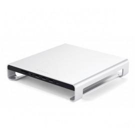 Satechi Aluminium Monitor Ständer Hub iMac silber