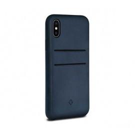 Twelve South Relaxed Leather pockets iPhone X / XS Indigo blau