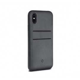 Twelve South Relaxed Leather pockets iPhone X / XS grau
