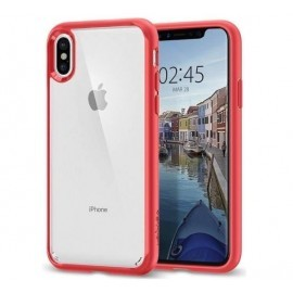 Spigen Ultra Hybrid Case iPhone X rot