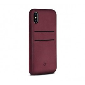 Twelve South Relaxed Leather pockets iPhone X / XS Marsala rot